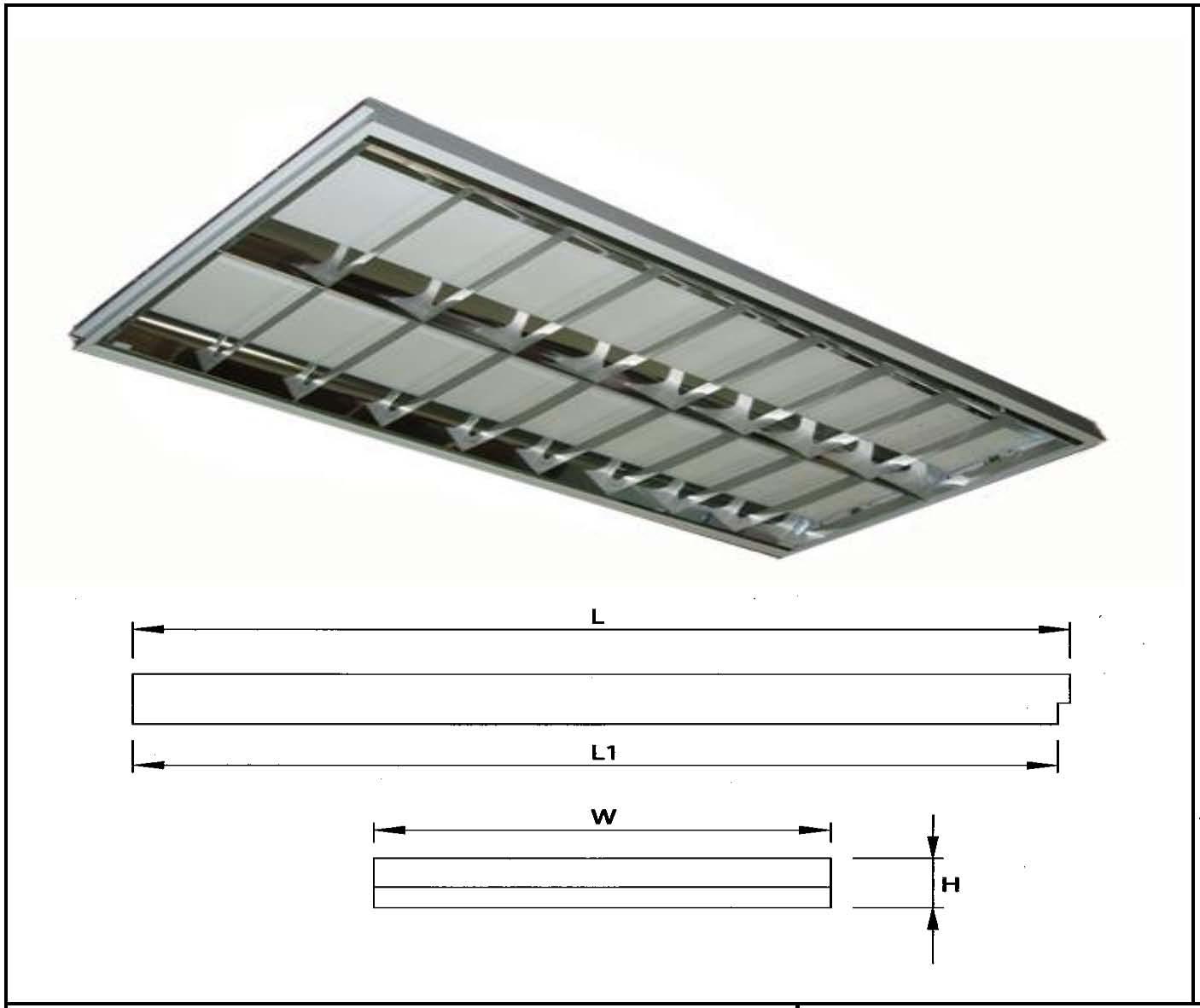 Light Fixture For 2 Pcs T8 T9 4 Feet Led Tube